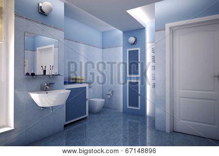 Blue Bathroom
