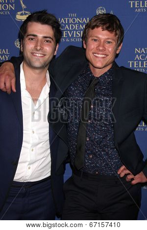 LOS ANGELES - JUN 20:  Freddie Smith, Guy Wilson at the 2014 Creative Daytime Emmy Awards at the Bonaventure Westin on June 20, 2014 in Los Angeles, CA