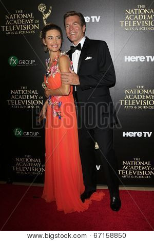 BEVERLY HILLS - JUN 22: Amelia Heinle, Peter Bergman at The 41st Annual Daytime Emmy Awards at The Beverly Hilton Hotel on June 22, 2014 in Beverly Hills, California