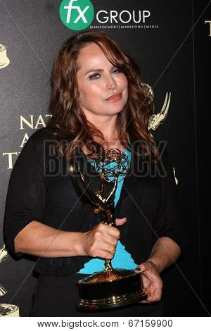 LOS ANGELES - JUN 22:  Crystal Chappell at the 2014 Daytime Emmy Awards Press Room at the Beverly Hilton Hotel on June 22, 2014 in Beverly Hills, CA