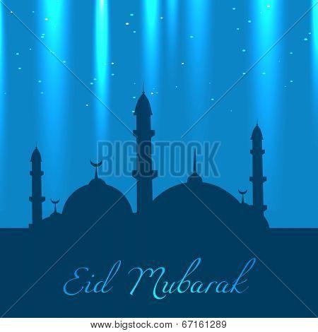 beautiful eid design vector illustration poster