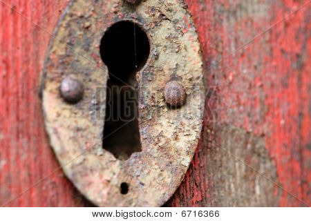 Old Door Keyhole