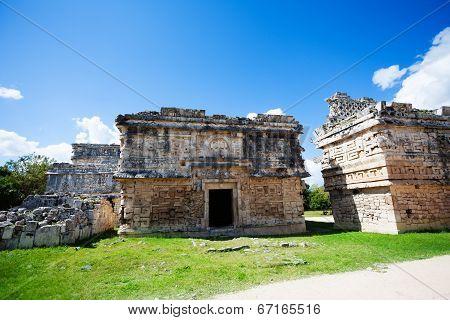 Ruined walls, El Caracol near Chichen Itza