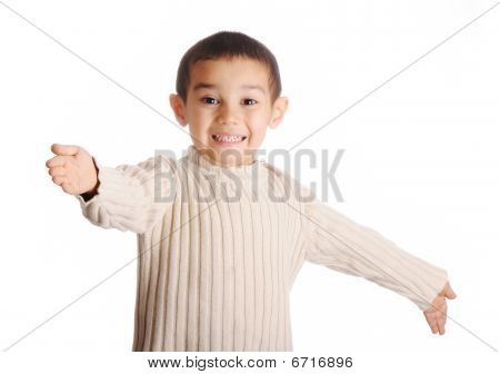 Boy With Denim Cap