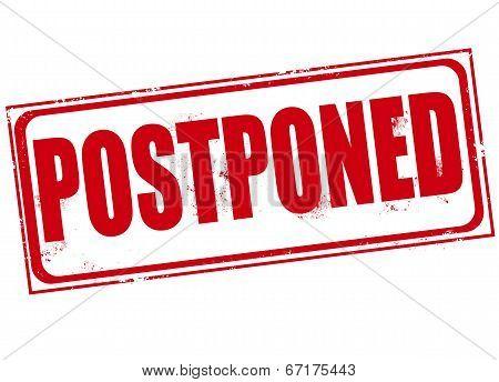 Postponed Stamp