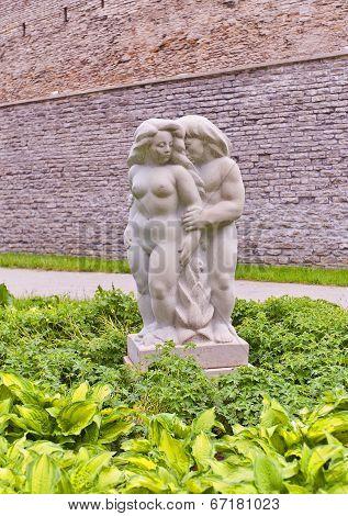 Sculpture In Superintendent Garden Of Tallinn, Estonia