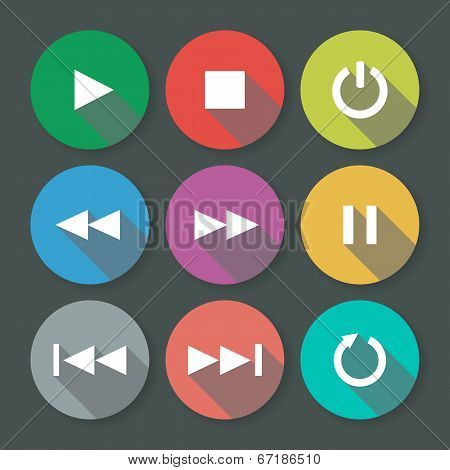 Buttons Set For Web