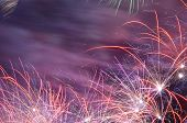 colorful and fancy fireworks on celebration day poster