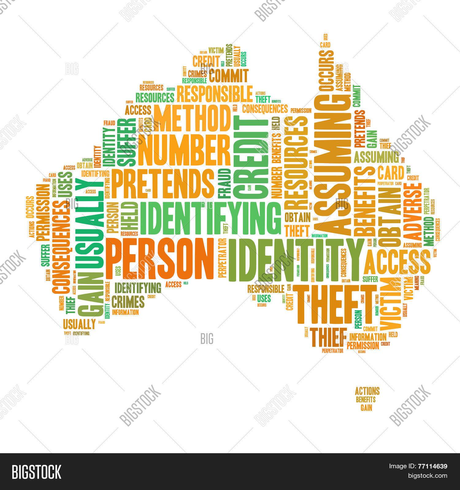 Australia Map Shape.Identity Theft Concept Image Photo Free Trial Bigstock