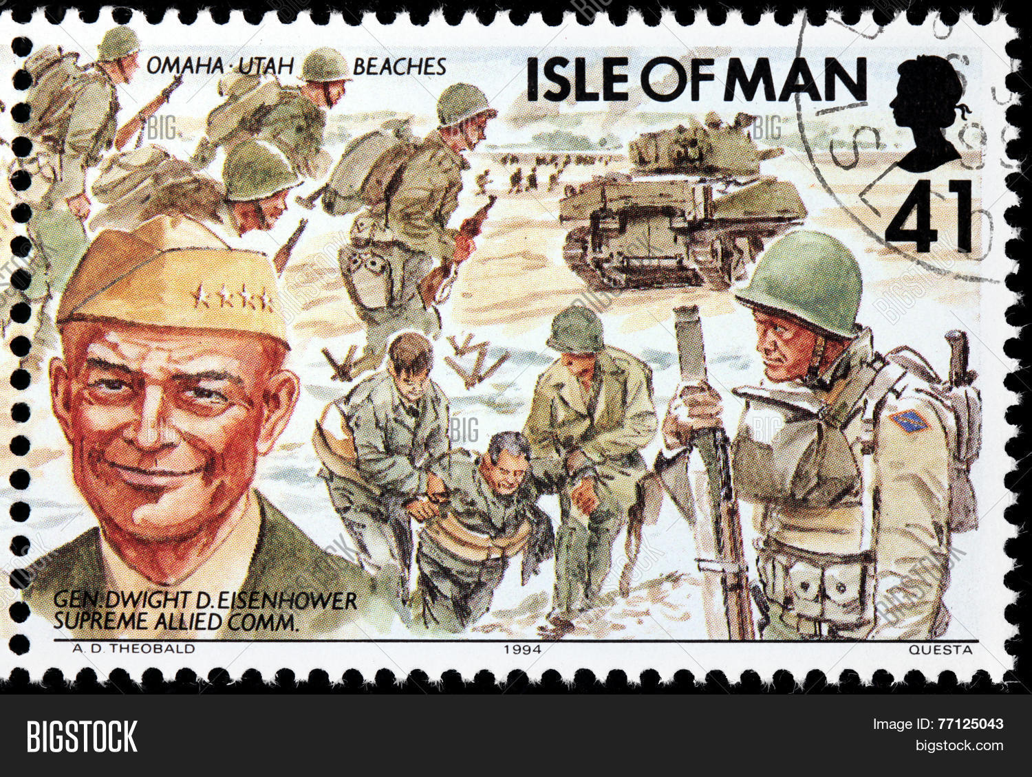 Eisenhower Stamp Image Photo Free Trial