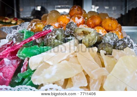 Colorful Candied Fruit