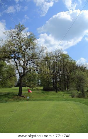 Green Of A Beautiful Golf Course