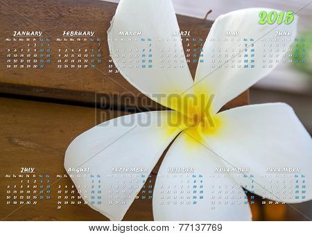 Maldives Flower Calendar 2015 In English