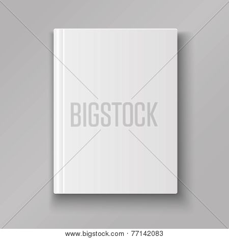 Blank book cover isolated  with shadow