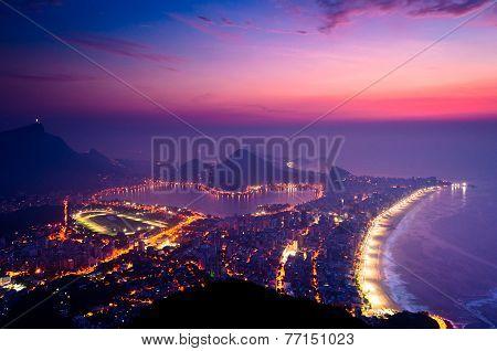 Early Morning Sunrise in Rio de Janeiro