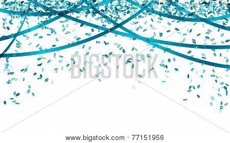 Falling Blue Confetti