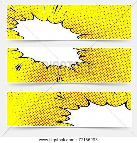 Yellow Header Book Comic Explosion Banner