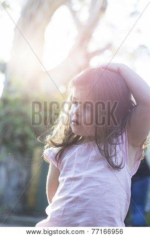 Little Girl In The Sun