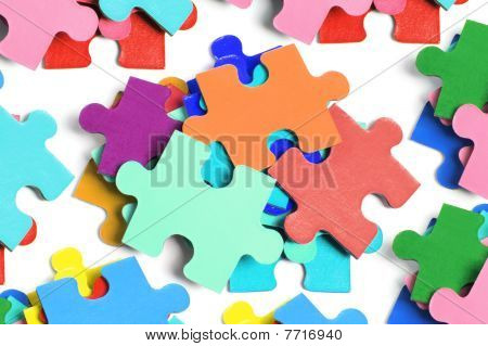Pile Of Jigsaw Puzzle Pieces