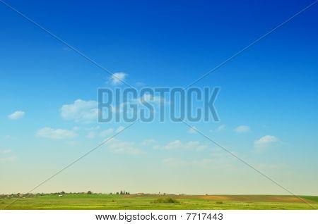 Blue sky landscape