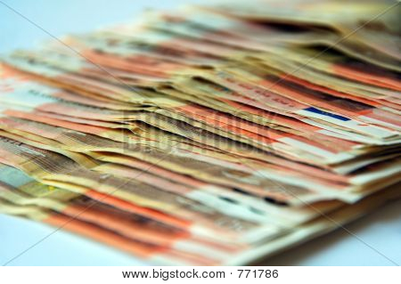 lots of euro bills