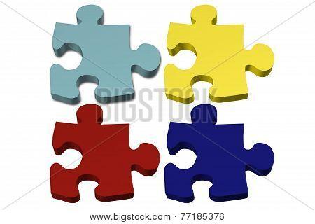 Blank Autism Puzzle Pieces