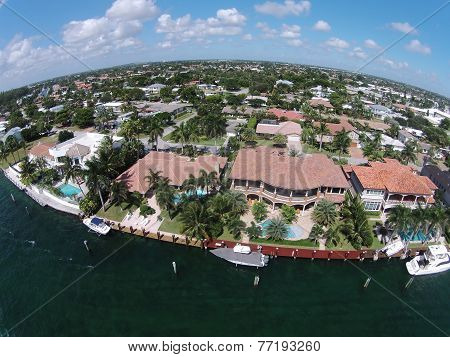 Expensive Waterfront Homes In Florida Aerial