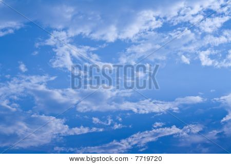 the cloud and sky