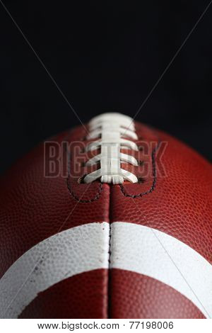Close Up of a Football with room for copy