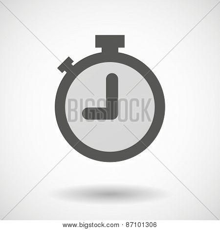 Grey Timer Icon
