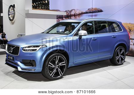 NEW YORK - APRIL 1: Volvo exhibit Volvo xc 90 at the 2015 New York International Auto Show during Press day,  public show is running from April 3-12, 2015 in New York, NY.