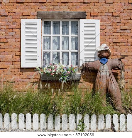 Window With Scarecrow