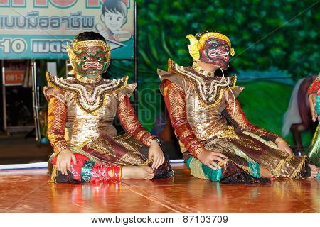 Unidentified Thai children traditional dance of Annual Cultural Event