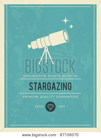 Vintage Poster For Stargazing