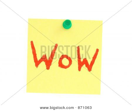 Postit Note With Handpainted Wow