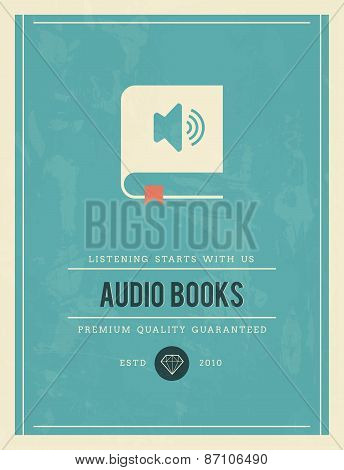 Vintage Poster For Audio Books