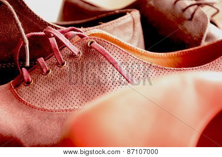 Beautiful woman and man shoes