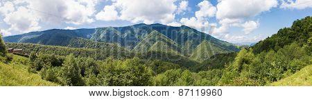 Panorama Of Parc Naturel Regional Des Pyrenees Ariegeoises