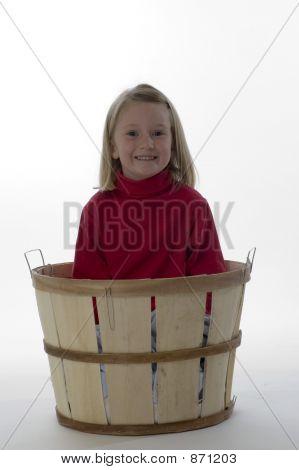 Little Girl in a Basket