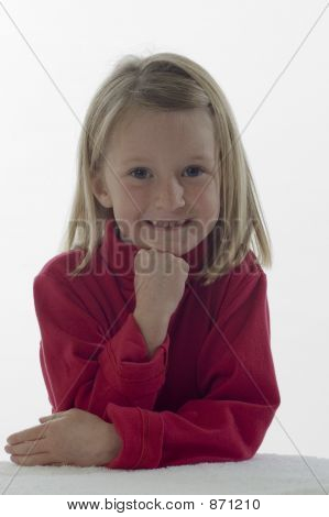 Cute Little Girl in a red top