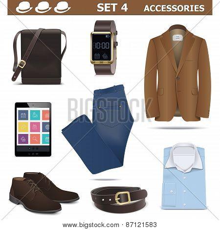 Vector Male Accessories Set 4