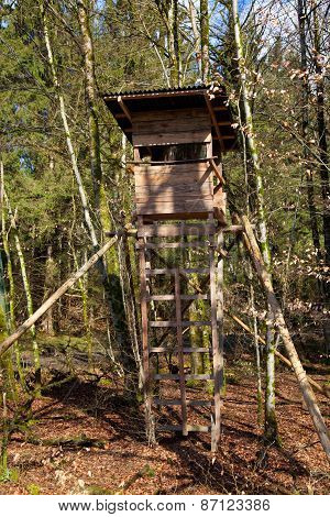 Hunter´s Booth In The Forest