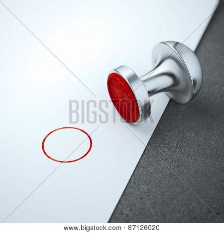Blank round metal stamp