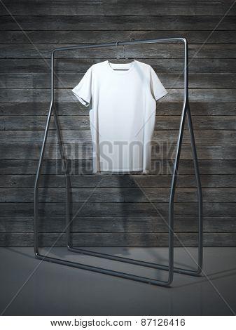 Blank white t-shirt. 3d rendering