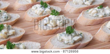 Egg Salad Hors d'Oeuvres