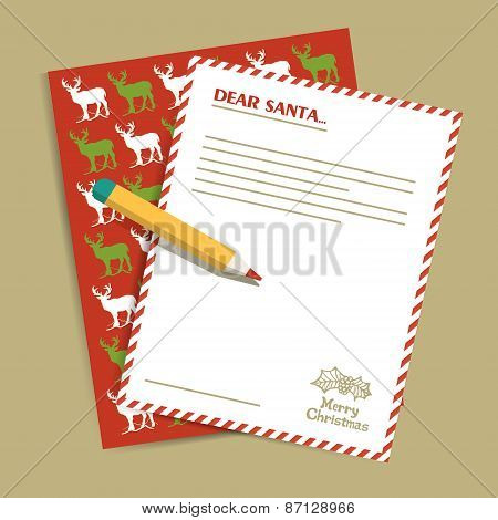 Christmas Letter To Santa Claus.