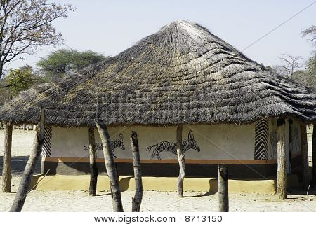 Painted African Home