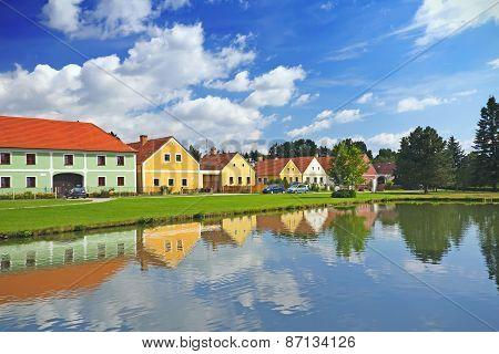 Rural Color Houses In Zabori (czech Republic)