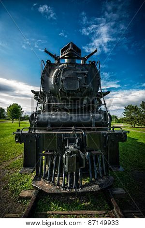 Front View Of An Old Northern 4-8-4 Steam Train