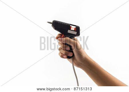 Electric Hot Glue Gun .